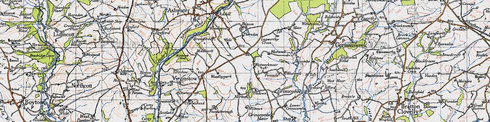 Old map of Westweek in 1946