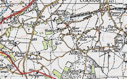 Old map of Westwells in 1946