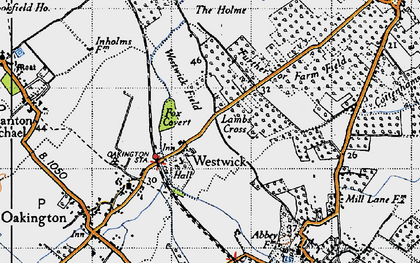 Old map of Westwick in 1946