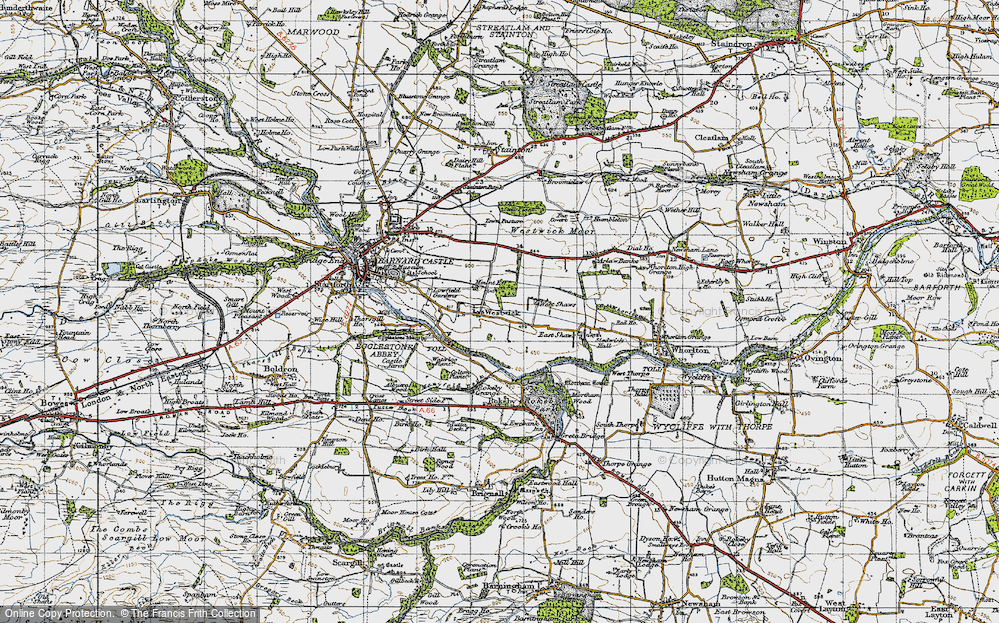 Old Map of Westwick, 1947 in 1947