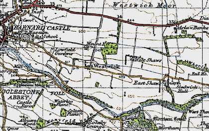 Old map of Westwick in 1947