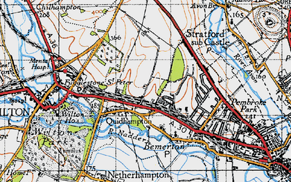Old map of Westwood in 1940