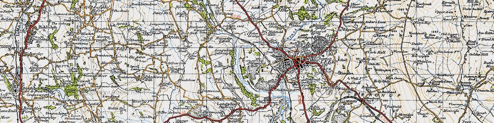Old map of Westwood Hall Sch in 1947