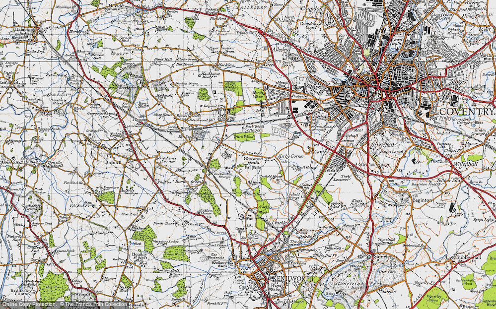 Old Map of Westwood Heath, 1947 in 1947