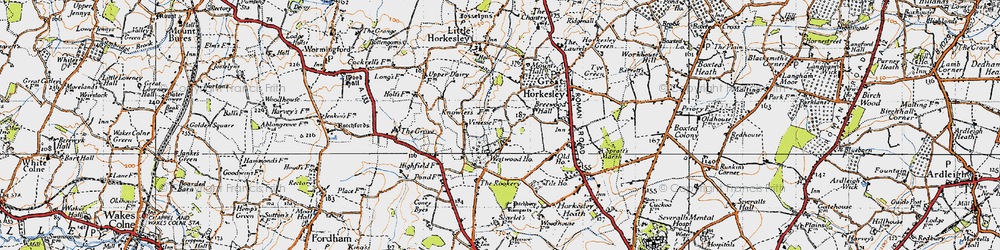 Old map of Westwood Park in 1945