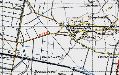 Old map of Westwoodside in 1947