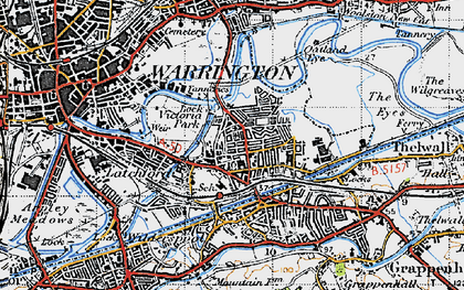 Old map of Westy in 1947
