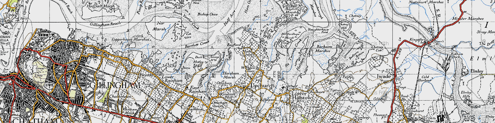 Old map of Wetham Green in 1946