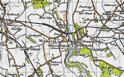 Old map of Wetheral in 1947