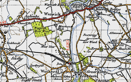Old map of Wetheral Plain in 1947