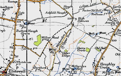 Old map of Ashfield Haugh in 1946