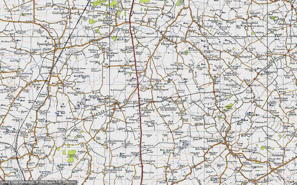 Old Map of Wetheringsett, 1946 in 1946