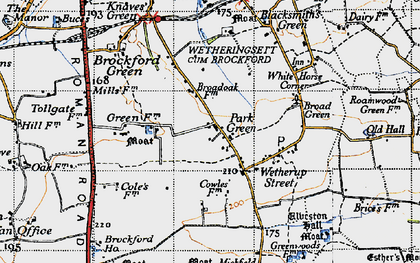 Old map of Wetherup Street in 1946