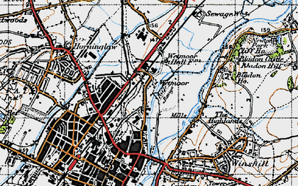 Old map of Wetmore in 1946