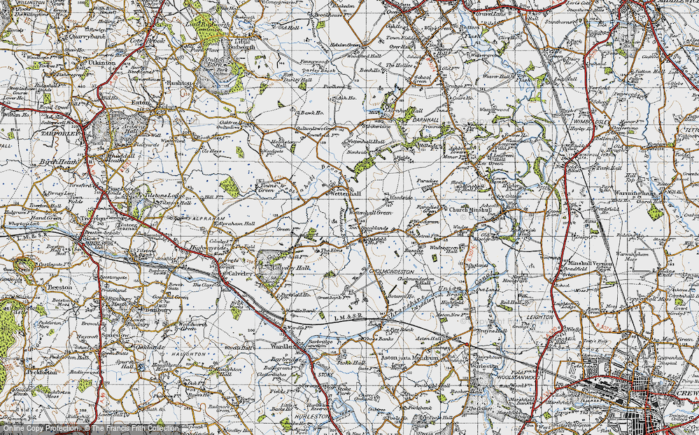 Old Map of Wettenhall Green, 1947 in 1947