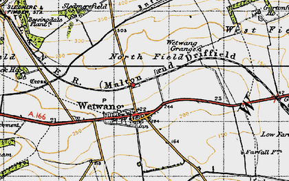 Old map of Wetwang Grange in 1947