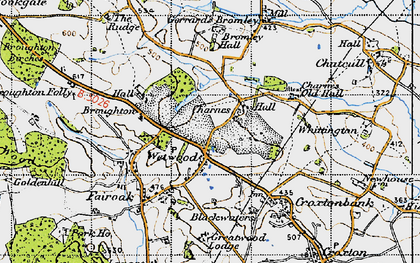 Old map of Wetwood in 1946