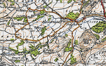 Old map of Weythel in 1947