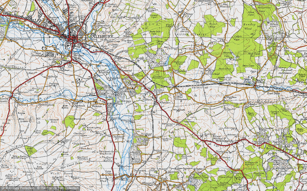 Old Map of Whaddon, 1940 in 1940