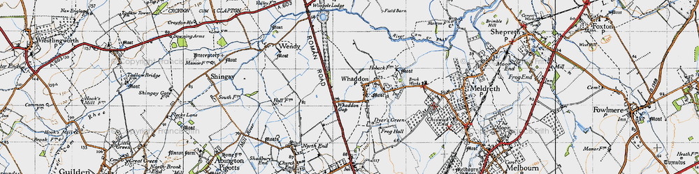 Old map of Whaddon Gap in 1946