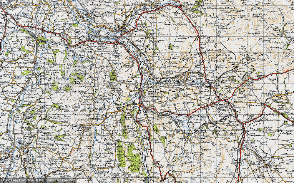 Old Map of Whaley Bridge, 1947 in 1947
