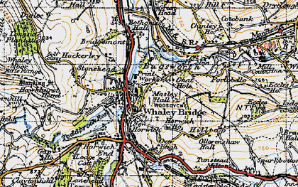 Old map of Whaley Bridge in 1947