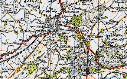Old map of Whalley Banks in 1947