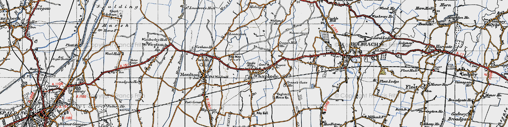 Old map of Whaplode in 1946