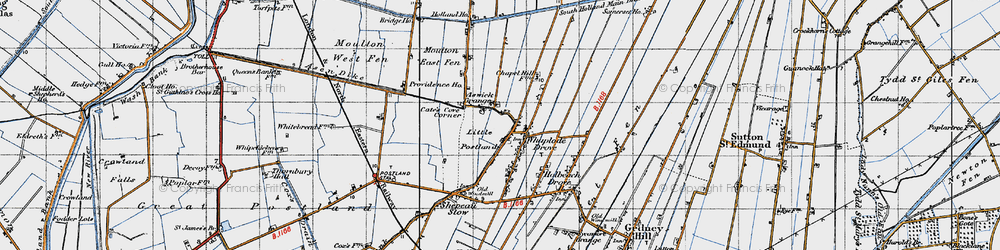 Old map of Whaplode Drove in 1946