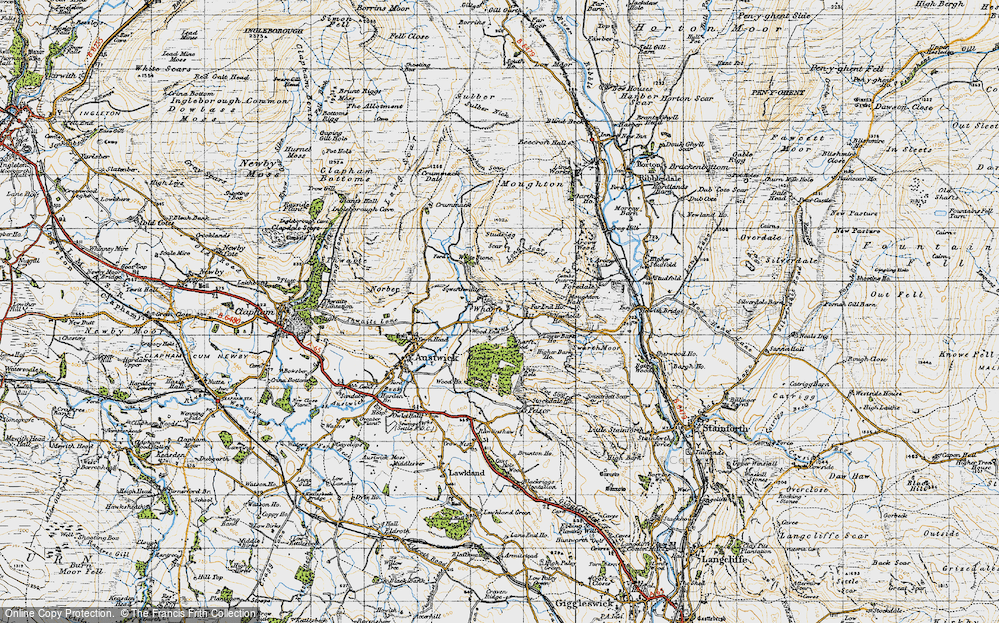 Old Map of Wharfe, 1947 in 1947