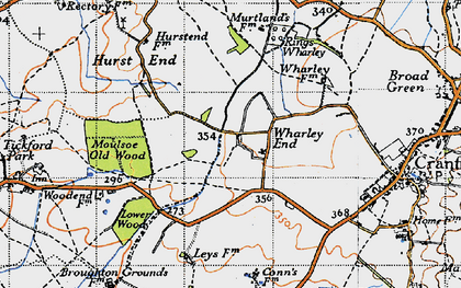 Old map of Wharley End in 1946