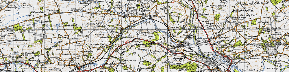 Old map of Wharmley in 1947