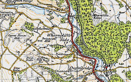 Old map of Wharncliffe Side in 1947