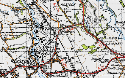 Old map of Wharton Green in 1947