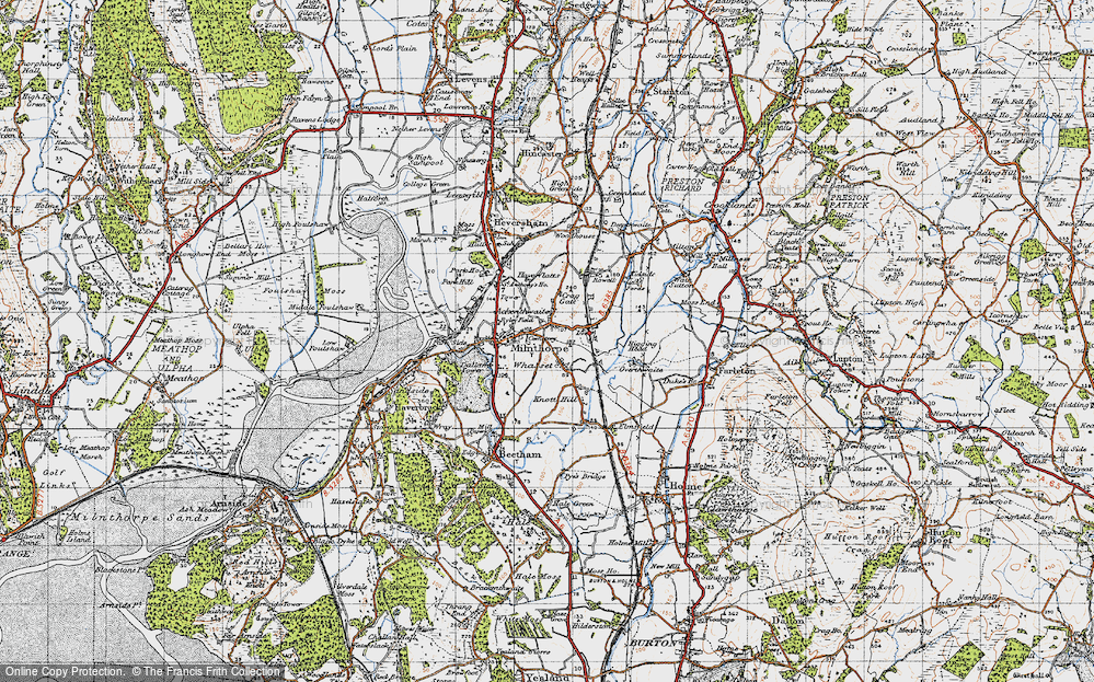 Old Map of Whasset, 1947 in 1947