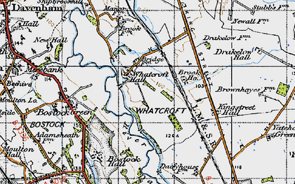Old map of Whatcroft in 1947