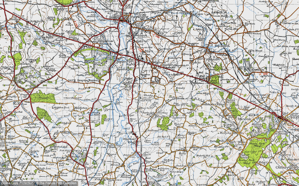 Old Map of Whateley, 1946 in 1946