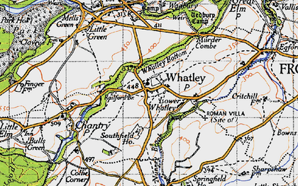 Old map of Whatley in 1946