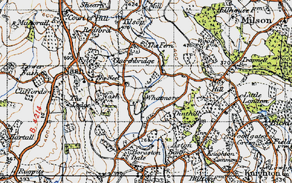 Old map of Whatmore in 1947