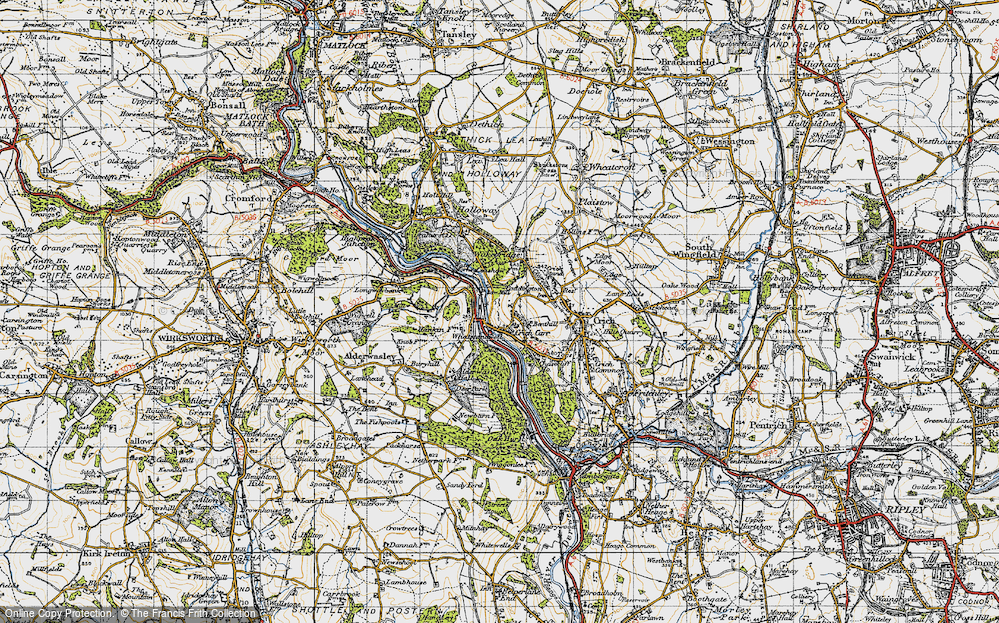 Old Map of Whatstandwell, 1947 in 1947