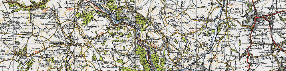 Old map of Whatstandwell in 1947