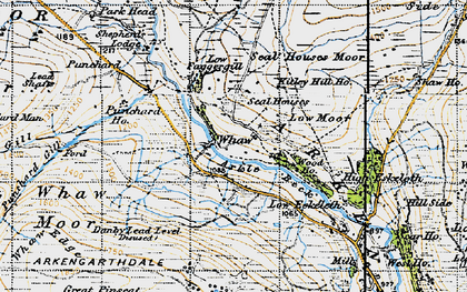 Old map of Whaw Edge in 1947