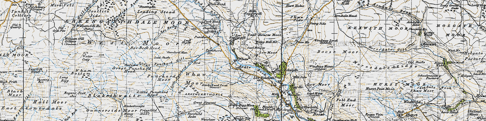 Old map of Whetshaw Bottom in 1947