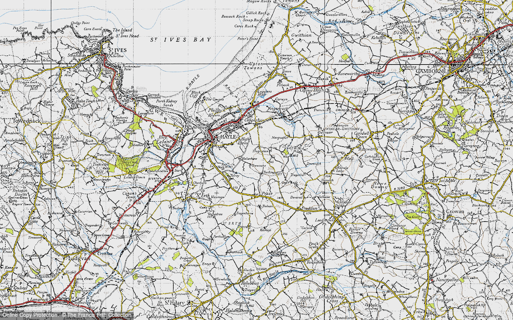 Old Map of Wheal Alfred, 1946 in 1946