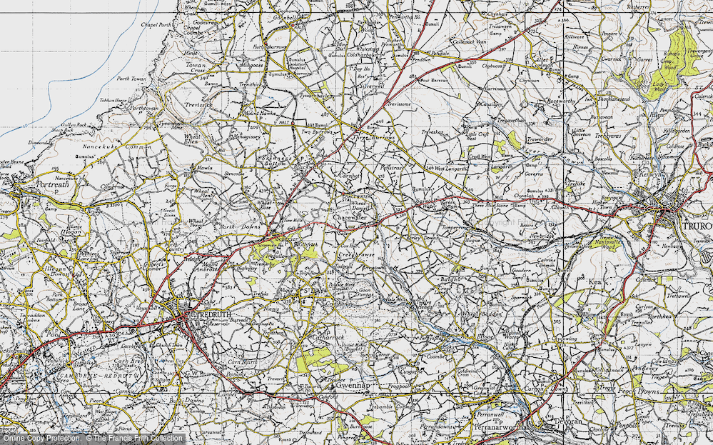 Old Map of Wheal Busy, 1946 in 1946