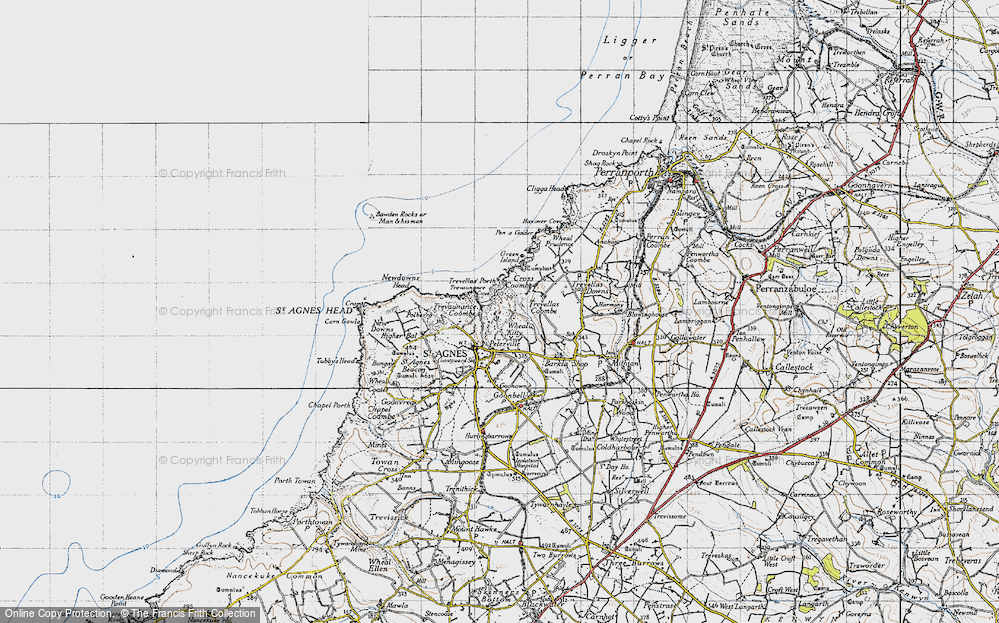 Old Map of Wheal Kitty, 1946 in 1946