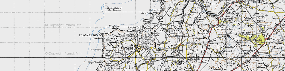 Old map of Wheal Kitty in 1946