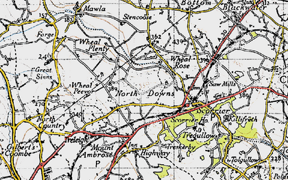 Old map of Wheal Rose in 1946
