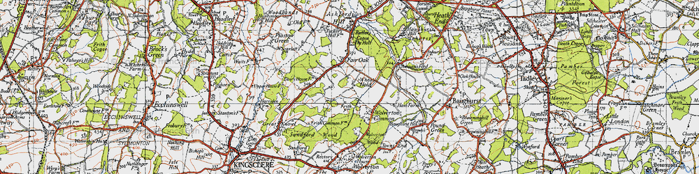Old map of Wheat Hold in 1945