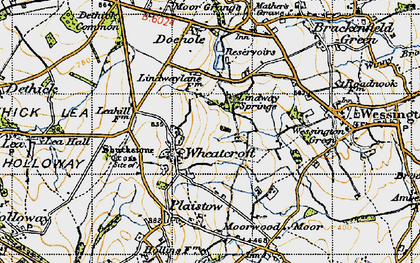 Old map of Wheatcroft in 1947